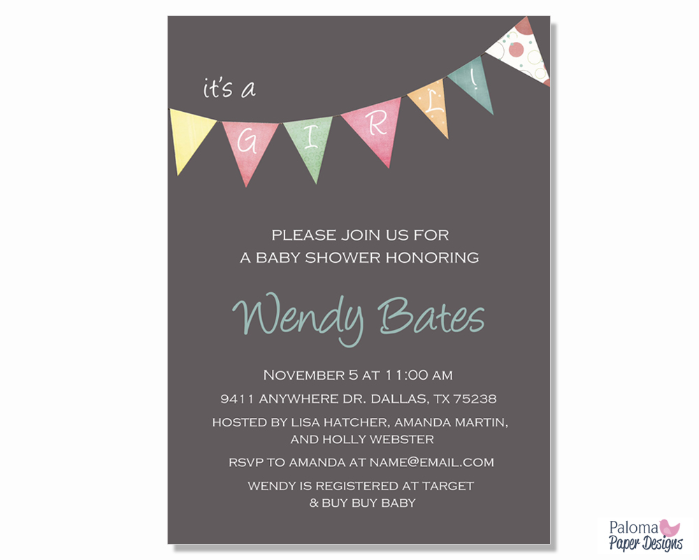 Baby Shower Invitation | Paloma Paper Designs